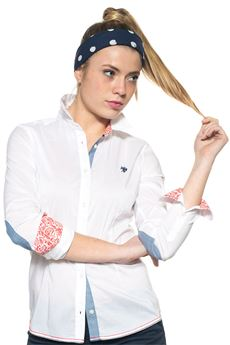 Camicia da donna in cotone US Polo Assn | 6 | 38940-51702100