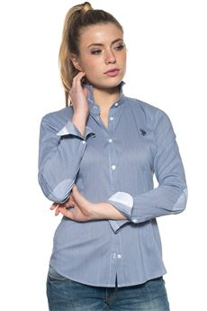 Camicia da donna in cotone US Polo Assn | 6 | 38943-51743807